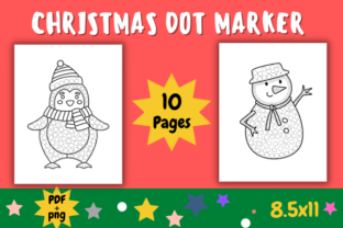 Print on Demand: CHRISTMAS DOT MARKER ACTIVITY PAGES - V2 Graphic Coloring Pages & Books By The students Palace