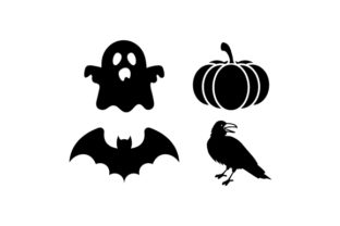 Spooky Halloween Silhouette Set Halloween Craft Cut File By Creative Fabrica Crafts