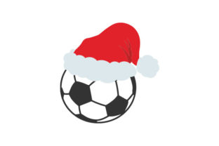 Football with Santa Hat Sports Craft Cut File By Creative Fabrica Crafts