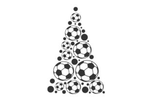 Christmas Tree Made of Footballs Sports Craft Cut File By Creative Fabrica Crafts