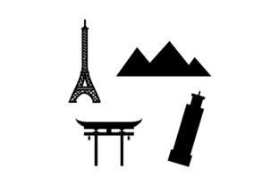 World Landmark Silhouettes Designs & Drawings Craft Cut File By Creative Fabrica Crafts