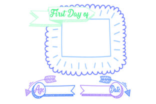 FIRST DAY of TEMPLATE Children Craft Cut File By Creative Fabrica Crafts