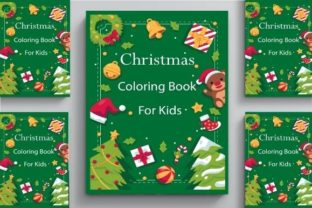 Christmas Coloring Book Cover for Kids ! Graphic Coloring Pages & Books By POD Helper BD