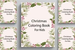 Christmas Coloring Book Cover for Kids Graphic Coloring Pages & Books By POD Helper BD
