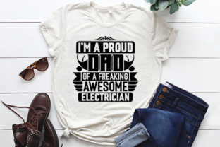 Dad Electrician T Shirt Design. Graphic Print Templates By Trendy t-shirt