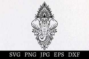 Print on Demand: Mandala Elephant Svg-Png Graphic Crafts By Nymerian Crafts