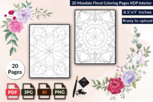 Mandala Floral Coloring Pages KDP Graphic Print Templates By mdsharifhossain02645