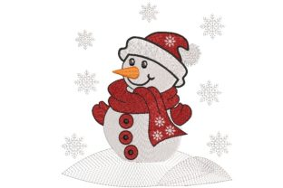 Print on Demand: Snowman Christmas Embroidery Design By ArtEMByNatali
