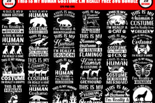 Print on Demand: This is My Human Free SVG T Shirt Bundle Graphic Crafts By TypographySVG