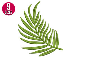 Print on Demand: Tropical Fern Leaf Single Flowers & Plants Embroidery Design By Nations Embroidery