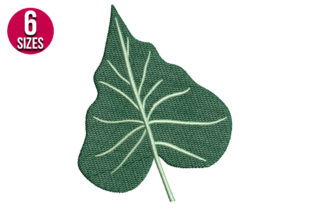 Print on Demand: Tropical Leaf Single Flowers & Plants Embroidery Design By Nations Embroidery