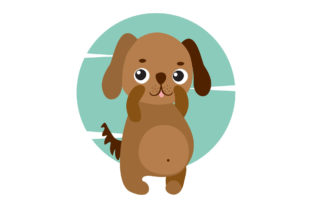 Cute Animal with Circle Frame Graphic Illustrations By Fauzia Studio