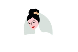Bride Face with Messy Bun Wedding Craft Cut File By Creative Fabrica Crafts