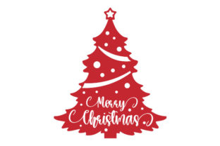 Merry Christmas Tree Christmas Craft Cut File By Creative Fabrica Crafts