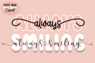 Print on Demand: Always Smiling Script & Handwritten Font By Fillo Graphic