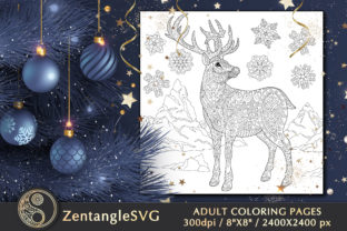 Christmas Coloring Page for Adults Graphic Coloring Pages & Books Adults By ZentangleSVG