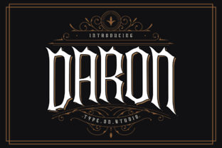 Print on Demand: Daron Blackletter Font By type.on.studio