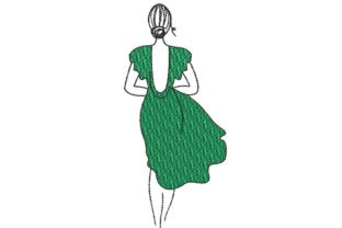 Print on Demand: Elegant Woman Silhouette Beauty Embroidery Design By Embroidery Shelter
