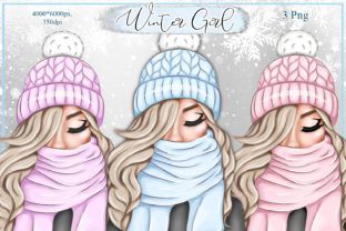 Print on Demand: Fashion Winter Girl Sublimation Png Graphic Illustrations By LerVik