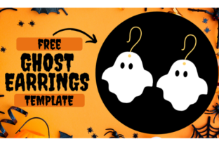 Ghost Earrings Template Graphic Crafts By Creative Fabrica Freebies