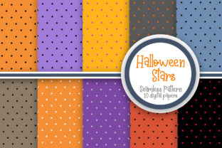 Print on Demand: Halloween Stars Seamless Pattern Graphic Patterns By PearlyDaisy