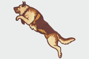 Layered German Shepherd Design for Cut Graphic 3D Shapes By LaserCraftum