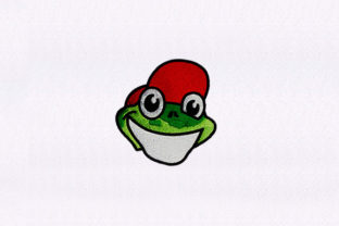 Smiley Frog Face Animals Embroidery Design By StitchersCorp
