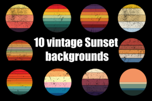 Vintage Sunset Graphic Backgrounds By LooksGoodOnYou