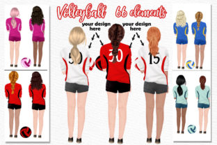 Print on Demand: Volleyball Jerseys Volleyball Girls Png Graphic Illustrations By LeCoqDesign