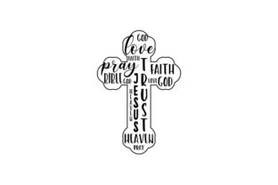 Cross Word Art Religious Craft Cut File By Creative Fabrica Crafts