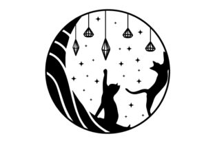 Cats, Moons and Crystals Halloween Craft Cut File By Creative Fabrica Crafts