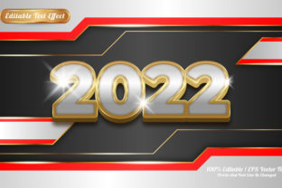 Print on Demand: 2022 Editable Text Effect Golden Themed Graphic Graphic Templates By Work 19 Studio
