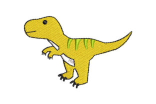 Animated Dinosaur Dinosaurs Embroidery Design By Embroiderypacks