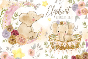 Baby Elephant Clip Art Graphic Illustrations By Hippogifts