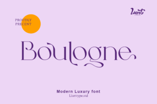 Print on Demand: Boulogne Serif Font By sifak1726