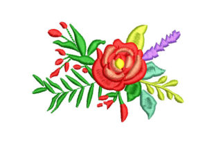 Bouquet of Roses Bouquets & Bunches Embroidery Design By Embroiderypacks