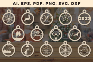 Print on Demand: CHRISTMAS Decorations Bundle SVG File 2 Graphic 3D SVG By NGISED