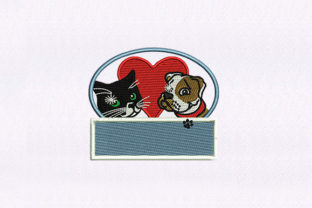 Cat and Dog Animals Embroidery Design By StitchersCorp