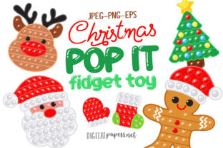 Print on Demand: Christmas Pop It Graphic Illustrations By DigitalPapers