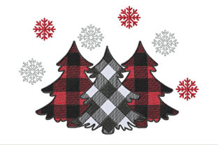 Christmas Tree Checkered Christmas Embroidery Design By ArtDigitalEmbroidery