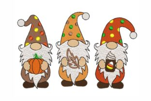 Fall Gnomies Autumn Embroidery Design By NinoEmbroidery