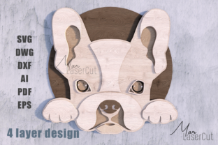 French Bulldog 3d Multilayer Laser Cut Graphic 3D SVG By MarLaserCut