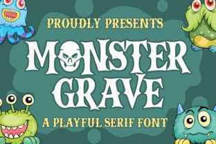 Print on Demand: Monster Grave Display Font By Blankids Studio