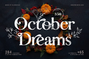Print on Demand: October Dreams Serif Font By SilverStag