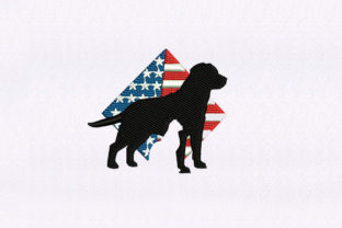 Patriotic Dog and Cat Animals Embroidery Design By StitchersCorp