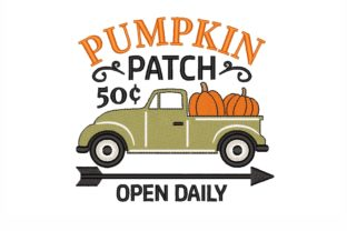 Pumpkin Patch Thanksgiving Embroidery Design By NinoEmbroidery