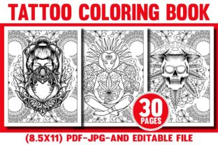 Tattoo Coloring Book for Teens & Adults Graphic Coloring Pages & Books Adults By Rainbow Ant