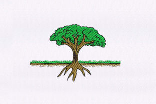 Tree with Root Forest & Trees Embroidery Design By StitchersCorp