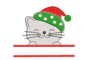 Christmas Cat Christmas Embroidery Design By Canada Crafts Studio