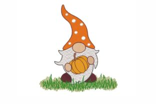 Fall Gnome Autumn Embroidery Design By LizaEmbroidery